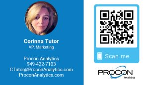 Corinna Tutor - VP, Marketing - Procon Analytics
